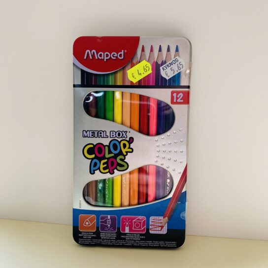 Maped Color' Peps 12 col. Metal box
